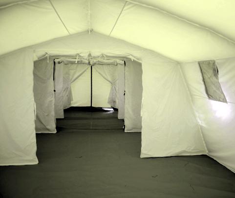 NIXUS PGK General Purpose Military and Emergency Tent - Interior