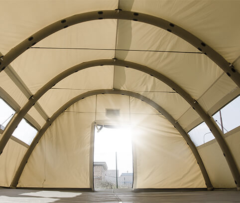 Military Tent - NIXUS PRO - Heavy Duty, All Weather Military Tent