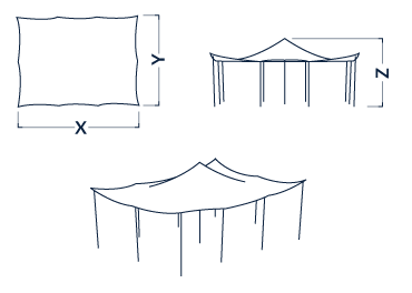 Stretch Elastic Canopy covers up to 300m2
