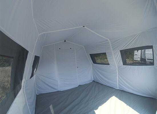 Interior of a Nixus ERA Military or Emergency/Humanitarian Relief Tent