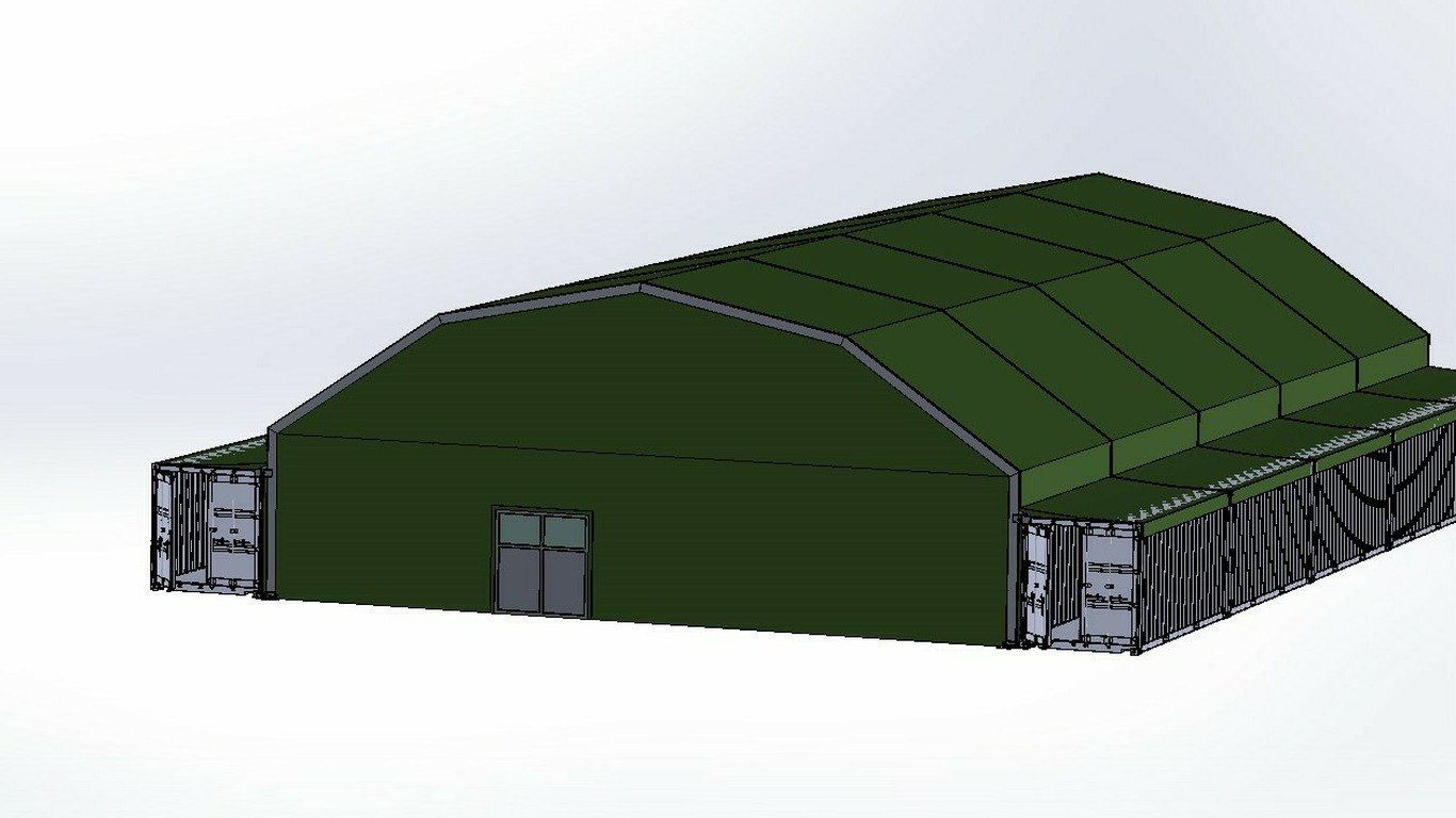 Military Gym based on ISO Containers with Aluminium Roof 3