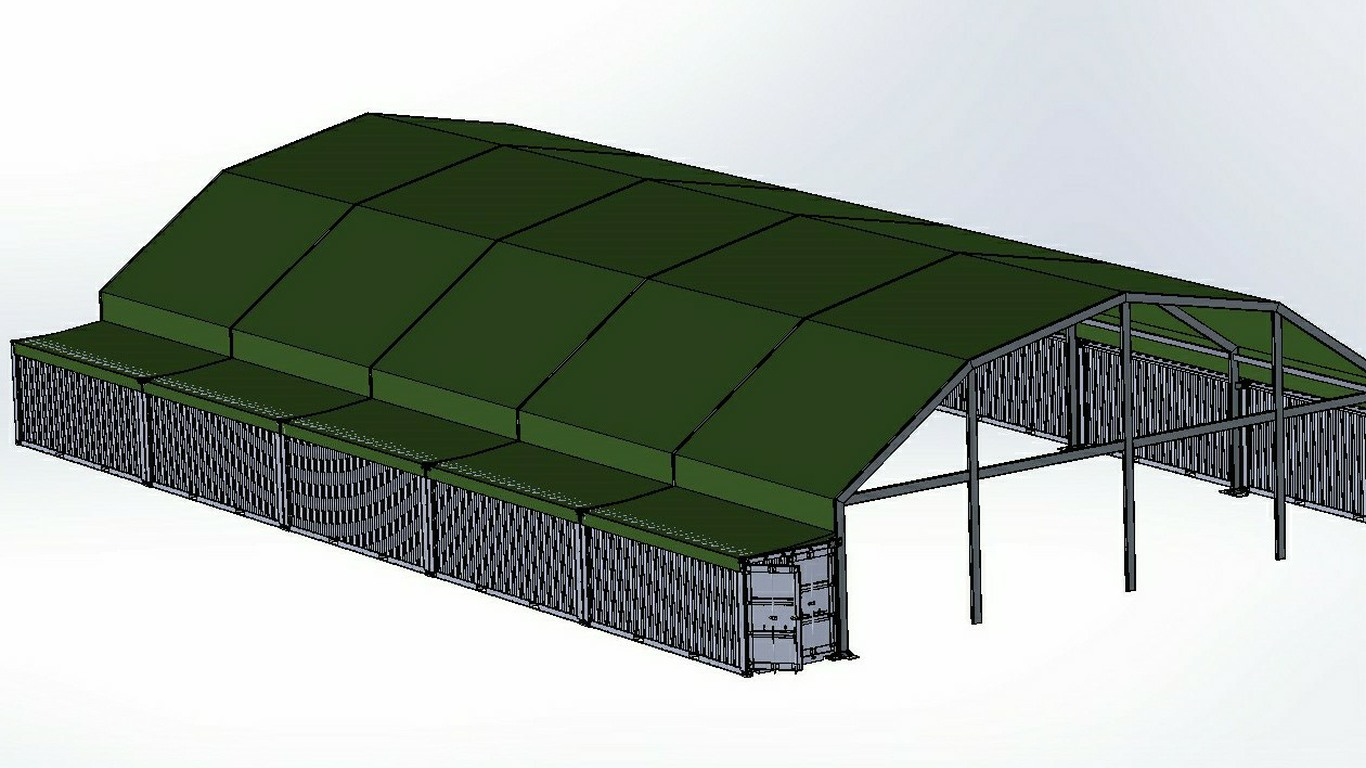 Military Gym based on ISO Containers with Aluminium Roof 2