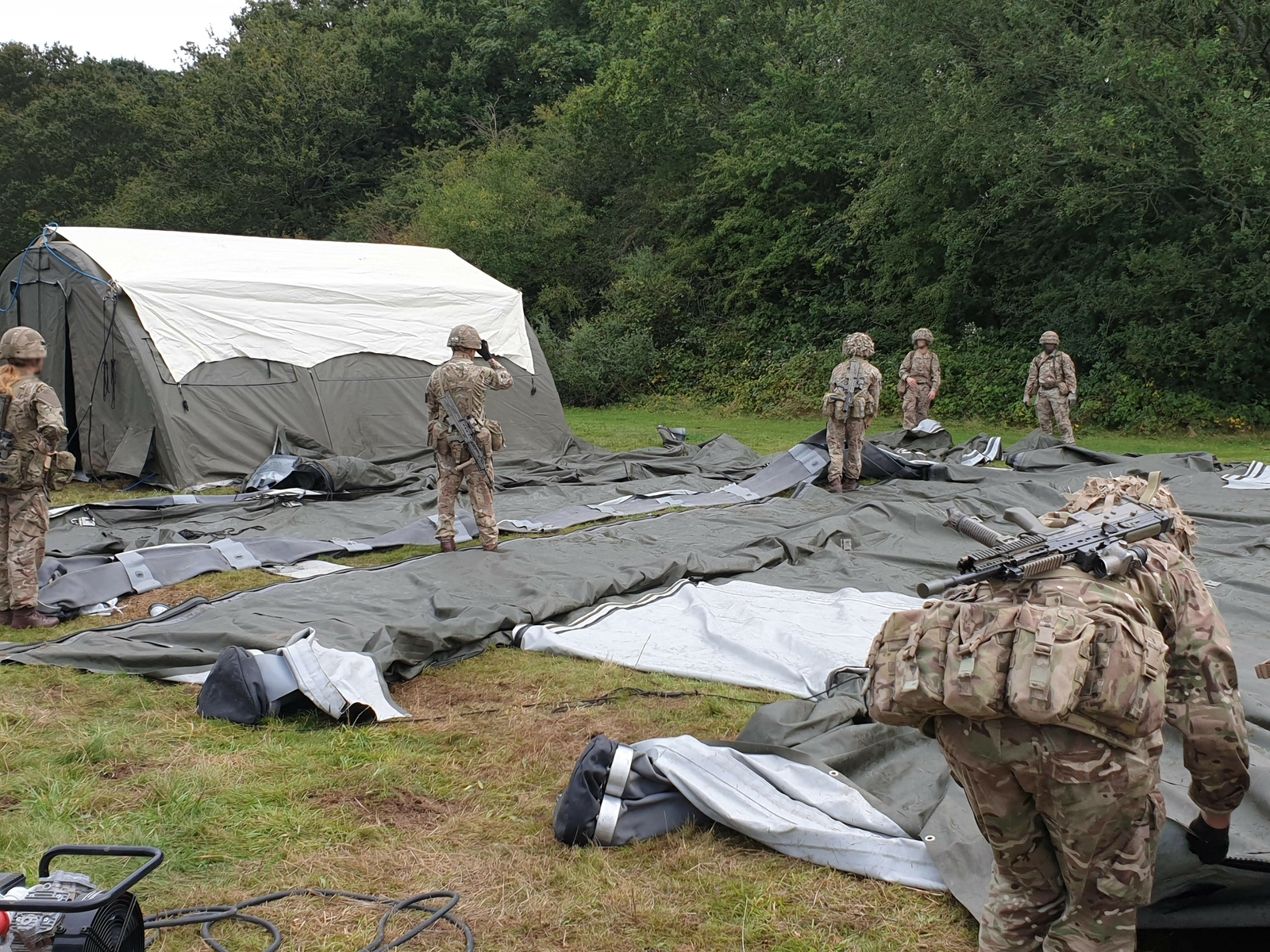NIXUS PRO Rapid deployment military tents on manoeuvres with British Army