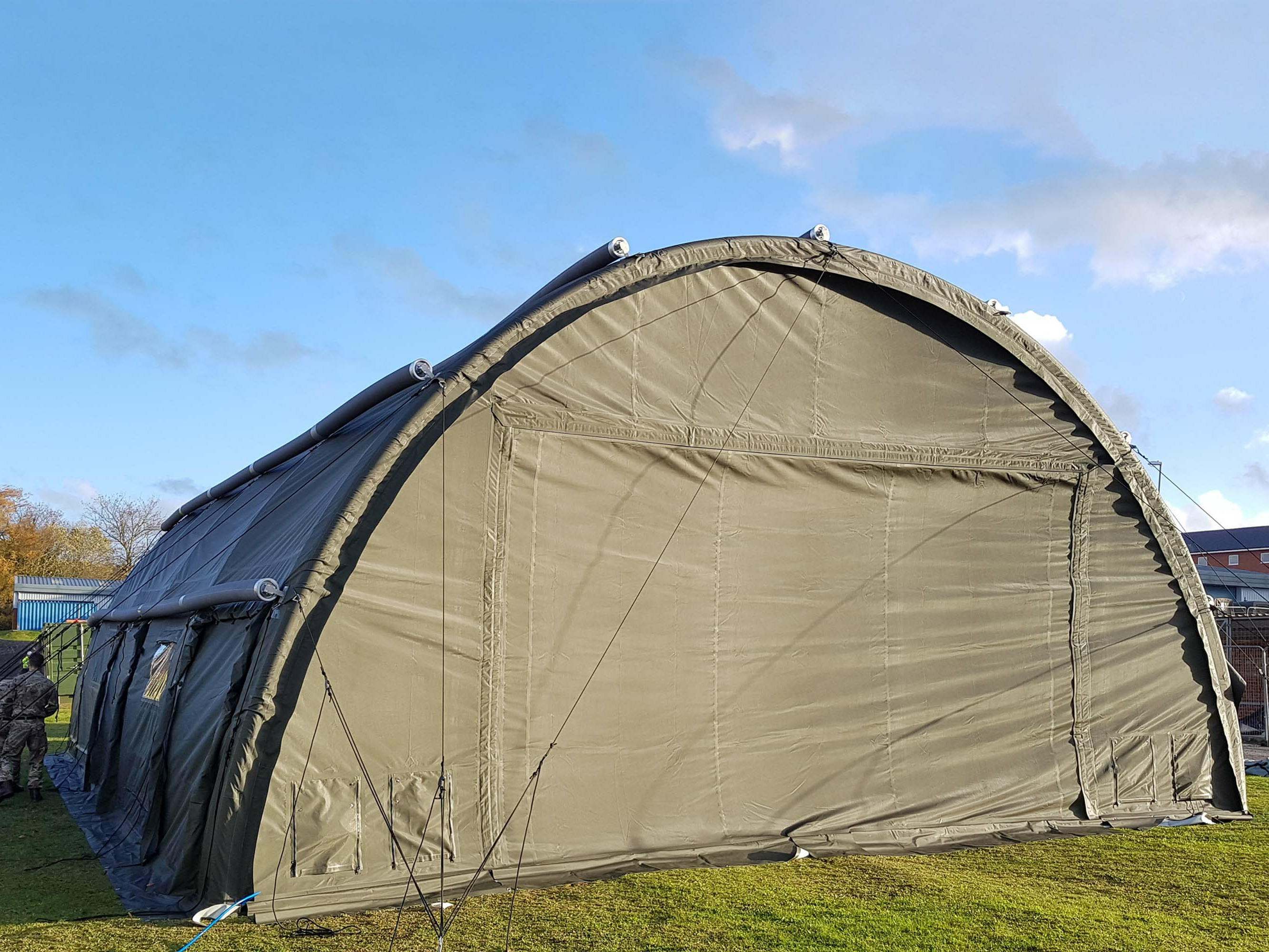 RIBS 10.5m Span Inflatable Building - Gable End