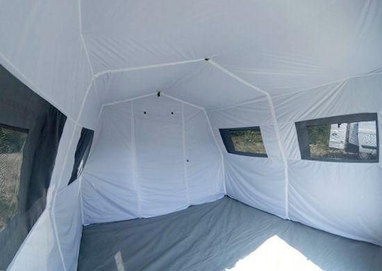 Interior of a Nixus Emergency Medical Tent