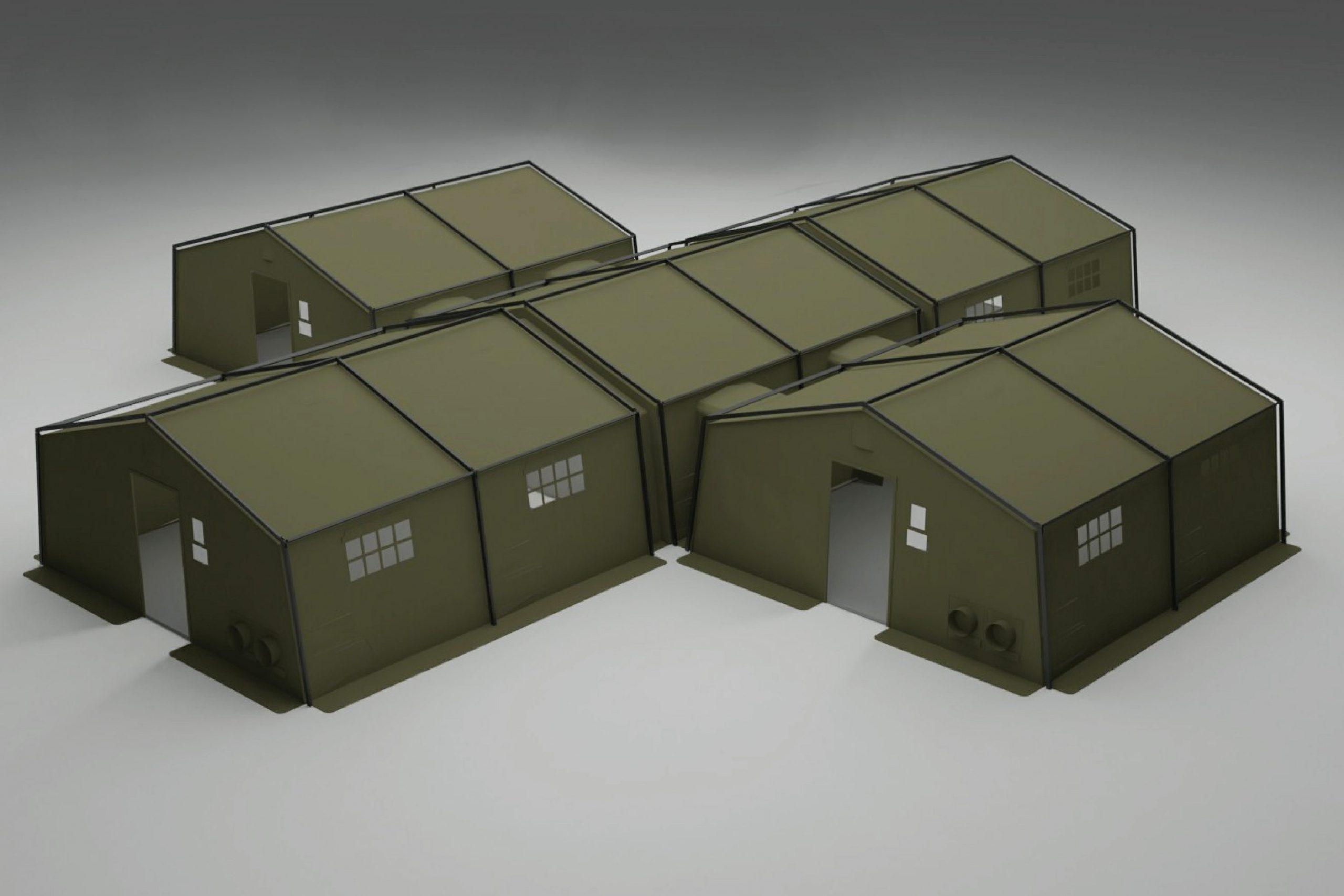 NIXUS PRO X Command Post with 4 x 6.1m x 6.1m modules plus central unit