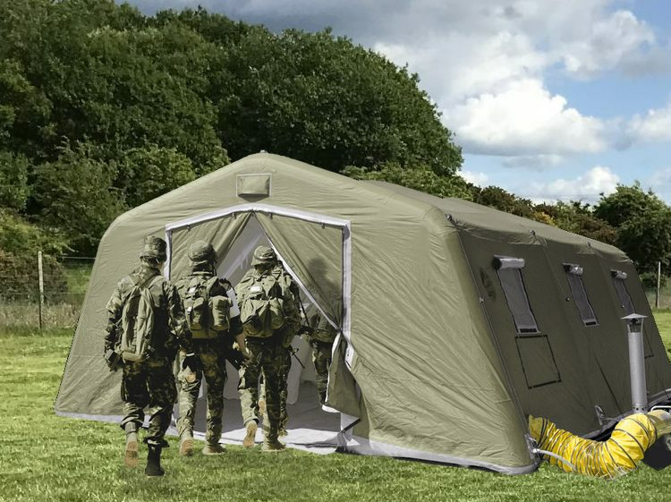 NIXUS PGK - A modular inflatable tent utilising low pressure beams, designed for general use